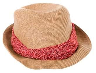 Eugenia Kim Embellished Raffia Fedora Hat Tan Embellished Raffia Fedora Hat