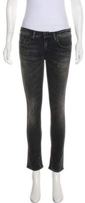 R 13 Mid-Rise Skinny Jeans