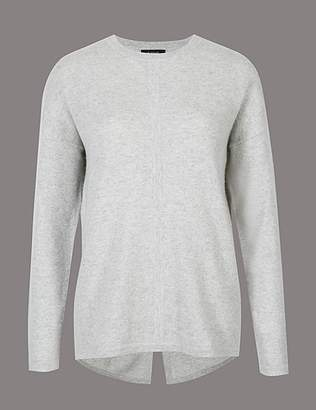 Marks and Spencer Pure Cashmere Split Back Round Neck Jumper