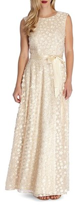 Women's Tahari Sequin Applique Woven Gown $239 thestylecure.com