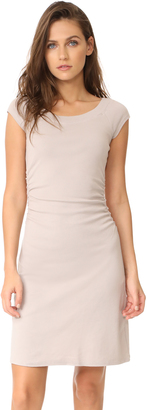 Three Dots Heritage Rib Dress with Ruched Waist $84 thestylecure.com