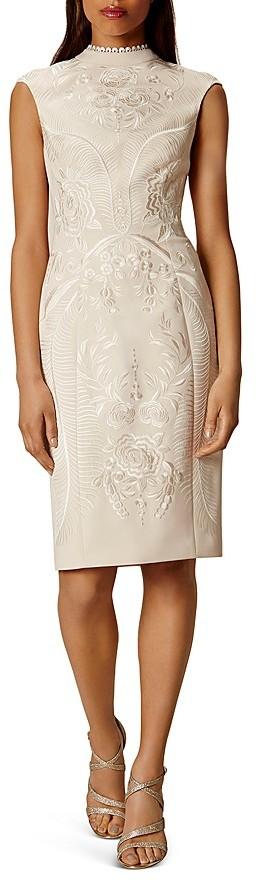 KAREN MILLEN Embroidered Sheath Dress
