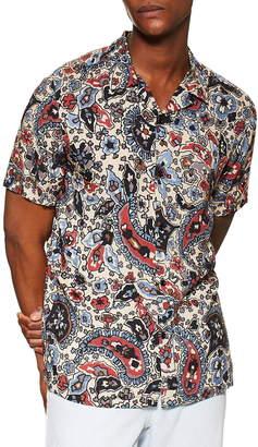 Topman Floral Slim Fit Paisley Shirt