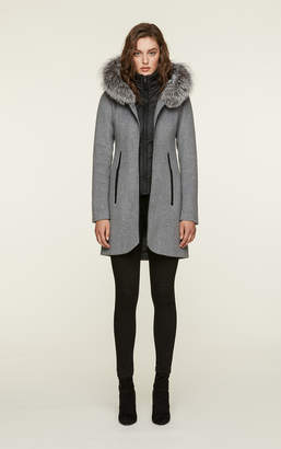 Soia & Kyo CHARLENA-FX slim-fit wool coat with removable bib