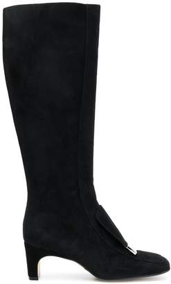 Sergio Rossi square toe boots
