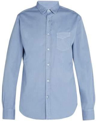 Officine Generale - Lipp Stitch Pigment Dyed Cotton Twill Shirt - Mens - Blue