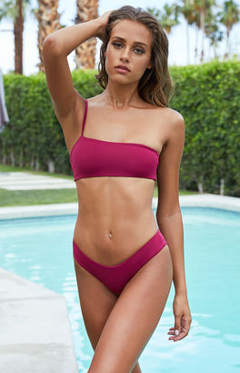 Frankie Swim Cannes Seamless One Shoulder Cropped Bikini Top