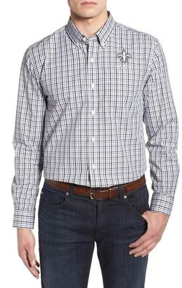 Cutter & Buck New Orleans Saints - Gilman Regular Fit Plaid Sport Shirt