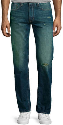 Arizona Slim Straight Destructed Jeans