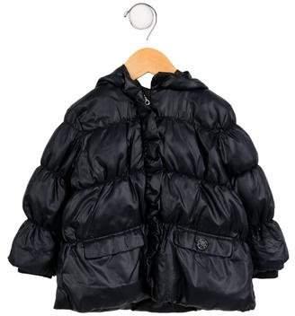 Armani Junior Girls' Hooded Puffer Jacket