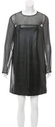 Jo No Fui Faux Leather Mini Dress