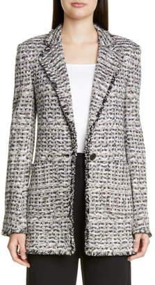 St. John Space Dyed Tweed Knit Jacket