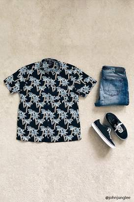 Forever 21 Palm Tree Print Shirt