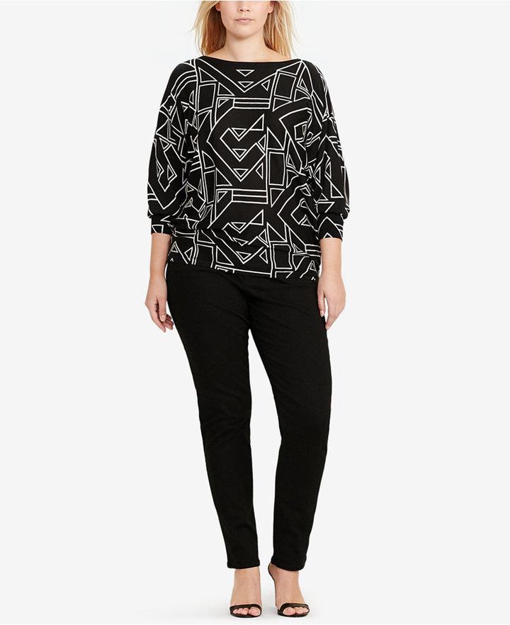 Lauren Ralph LaurenLauren Ralph Lauren Plus Size Art Deco Sweater