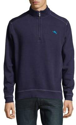 Tommy Bahama Quarter-Zip Cotton Sweatshirt