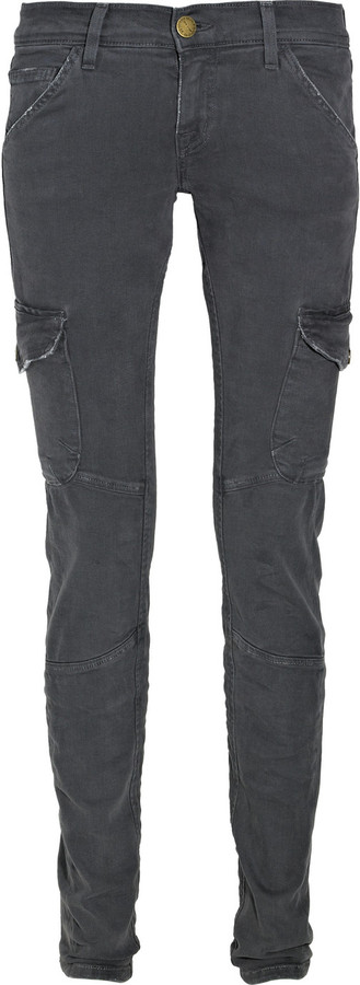Current/Elliott The Skinny Cargo low-rise jeans