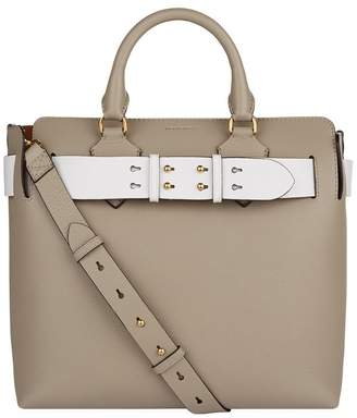 ff9dcae0d167 Burberry Metallic Leather Tote - ShopStyle UK