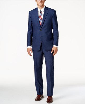 Lauren Ralph Lauren Men's Navy Sharkskin Ultraflex Pure Wool Slim-Fit Suit $625 thestylecure.com