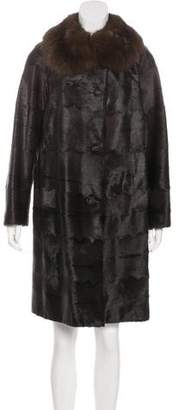 Giuliana Teso Sable-Trimmed Fur Coat