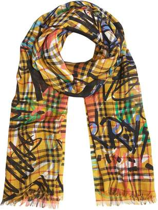 Burberry Graffiti Archive Print scarf