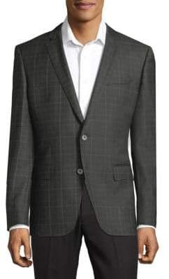 HUGO BOSS Hutsons Plaid Wool Blazer