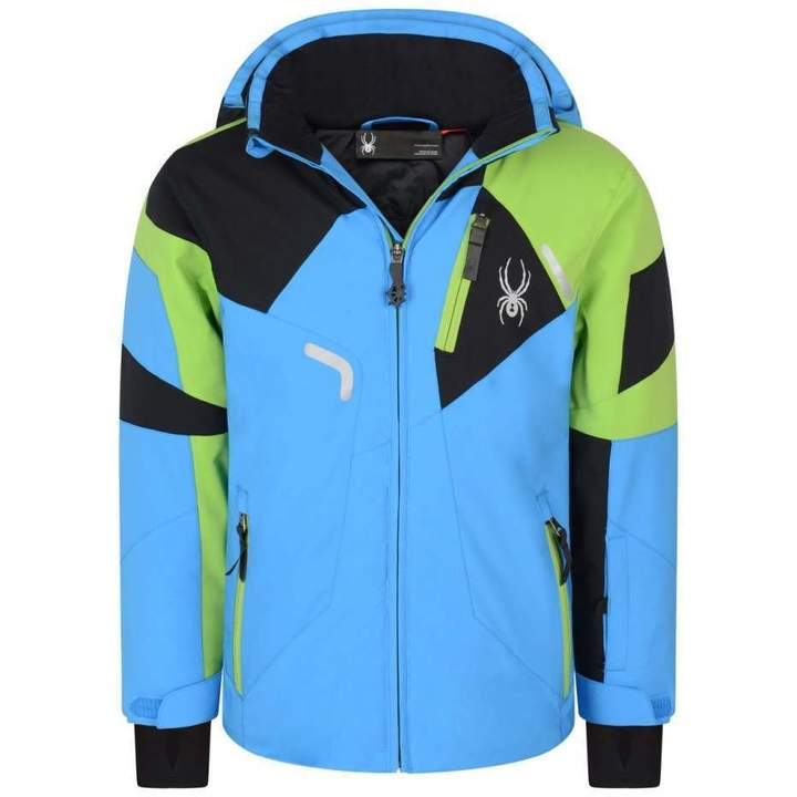 SpyderBoys Blue Green & Black Leader Jacket