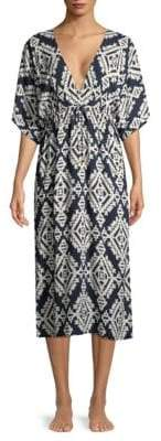 Tory Burch Printed Midi Beach Coverup