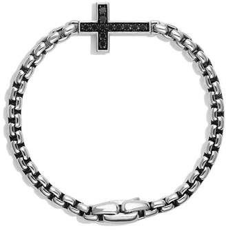 David Yurman Pavé Cross Bracelet with Black Diamonds