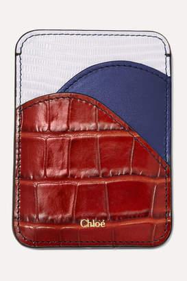 Chloé Walden Color-block Leather Cardholder - Brown