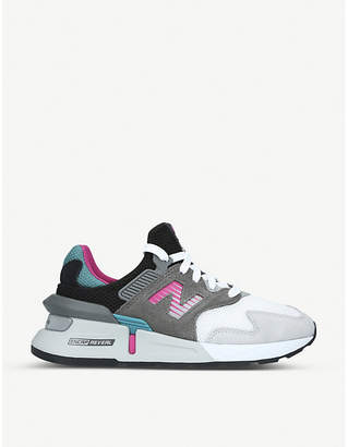 New Balance MS997 suede and mesh trainers