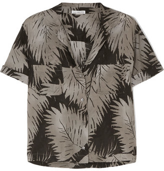 James Perse Printed Cotton-voile Shirt - Green