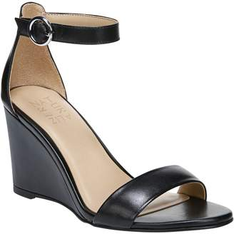 278aefd5a6f3 Naturalizer Leather Ankle Strap Wedge Sandals -Kierra