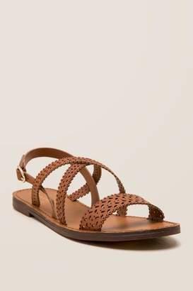 Costa Lasercut Strap Gladiator Sandal - Tan