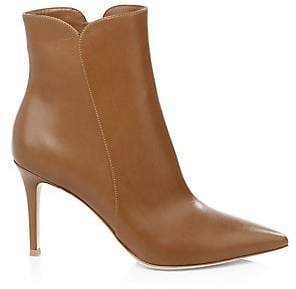 Gianvito Rossi Women's Pointy Leather Booties