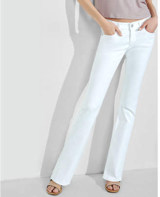Express white low rise stretch barely boot jeans