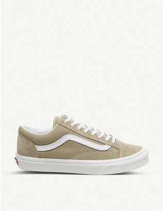 Style 36 suede and canvas trainers