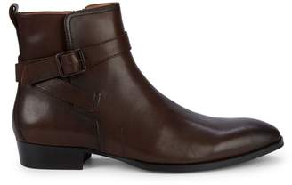 Steve Madden Buckled Leather Ankle Boots
