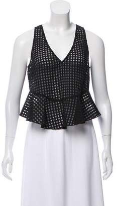 Elizabeth and James Sleeveless Checkered Top