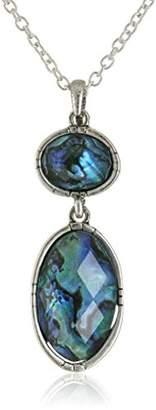The Sak Winter Eclipse Double Stone Drop Pendant Necklace