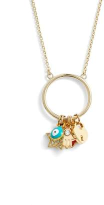 Cara Elise M. Charm Pendant Necklace
