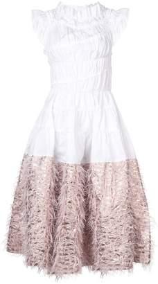 DAY Birger et Mikkelsen Jourden contrast skirt ruffle dress