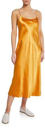 Vince Spaghetti-Strap Satin Slip Dress