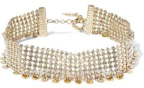 Luv Aj Disco Gold-Tone Crystal Choker