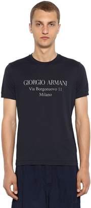 Giorgio Armani Address Logo Cotton Jersey T-Shirt