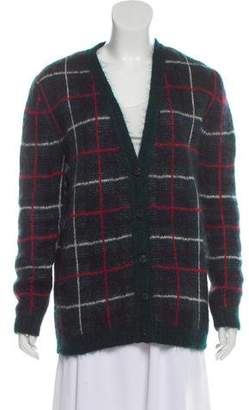 Saint Laurent Mohair Patterned Cardigan