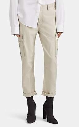 RE/DONE Women's Cotton Ripstop Crop Cargo Pants - Sand