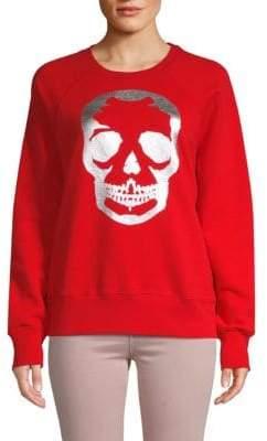 Zadig & Voltaire Skull Graphic Cotton Sweatshirt
