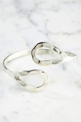 World Finds Silver Double Teardrop Cuff