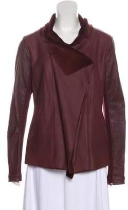 Saks Fifth Avenue Leather Shearling Jacket w/ Tags Leather Shearling Jacket w/ Tags