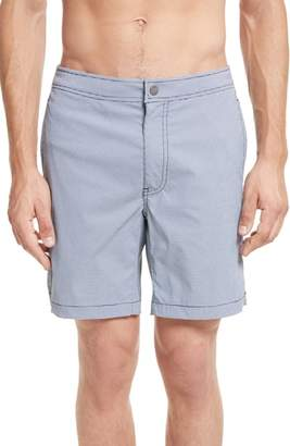 Onia Calder Gingham Board Shorts
